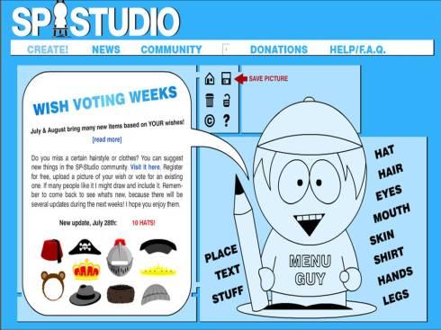 Site para criar o seu South Park