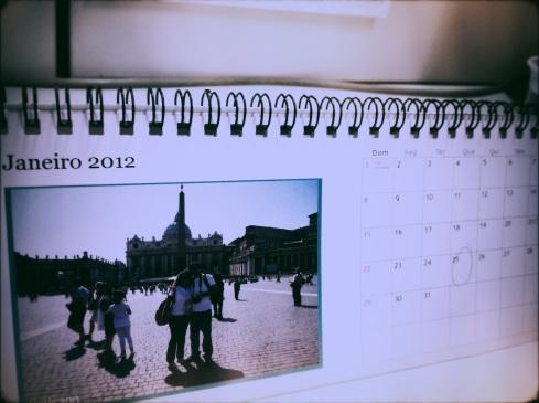 Meu calendário 2011 que veio com Janeiro 2012