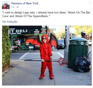 Criança em humans of new york